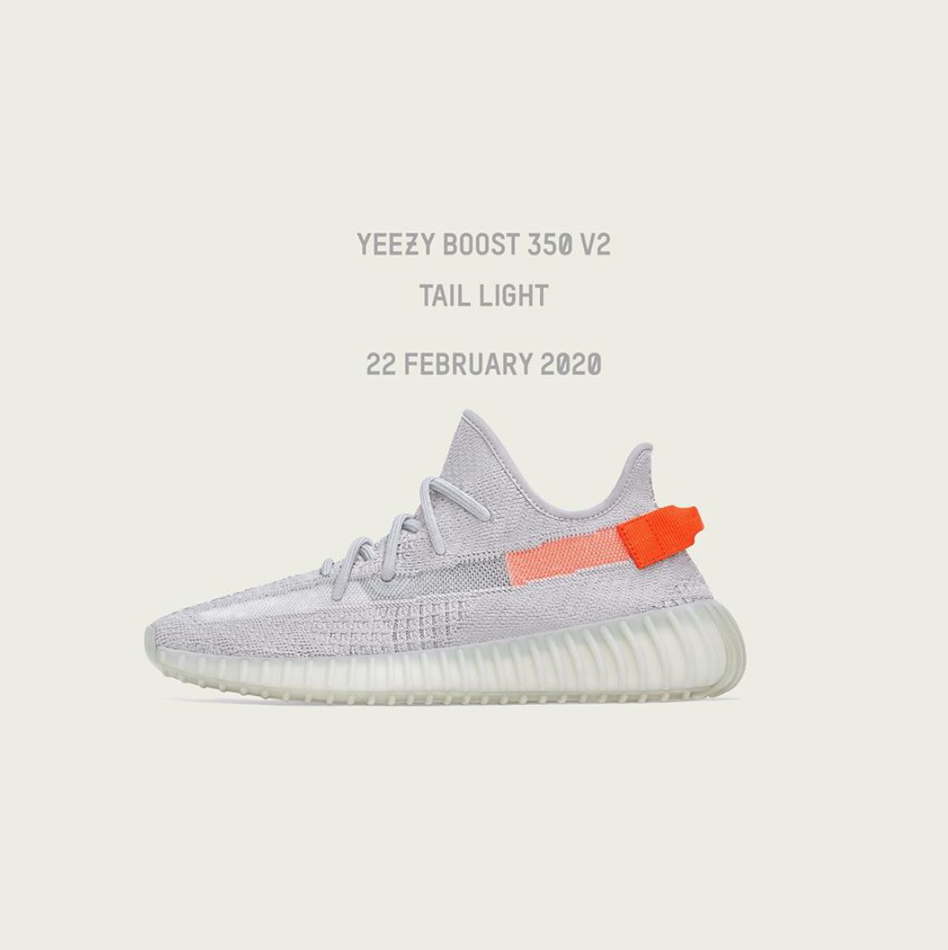 Raffle : Adidas Yeezy Boost 350 V2 Tail Light